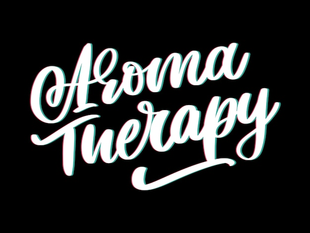 Aroma therapy letter for luxury lifestyle . alternative medicine. healthy lifestyle concept. organic sign.
