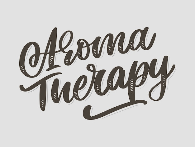 Aroma therapy letter for luxury lifestyle design. alternative medicine. healthy lifestyle concept. organic sign.
