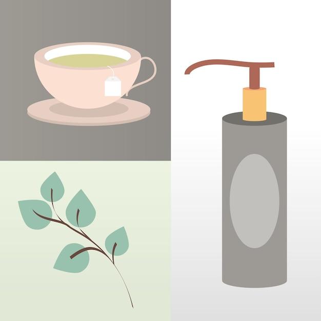 Aromatherapy spa icons