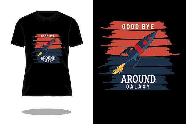 Around galaxy retro vintage t shirt design