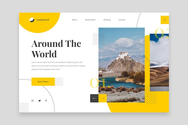 Around the world landing page