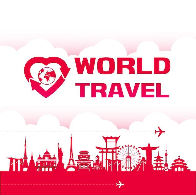 Around the world travel destination grand
