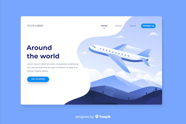 Around the world travel landing page