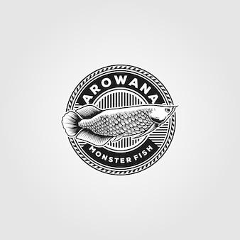 Arowana fish badge vintage