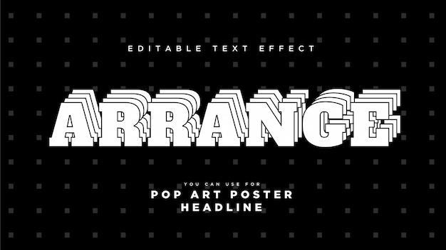 Arrange text style effect