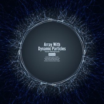 Array with dinamic particles