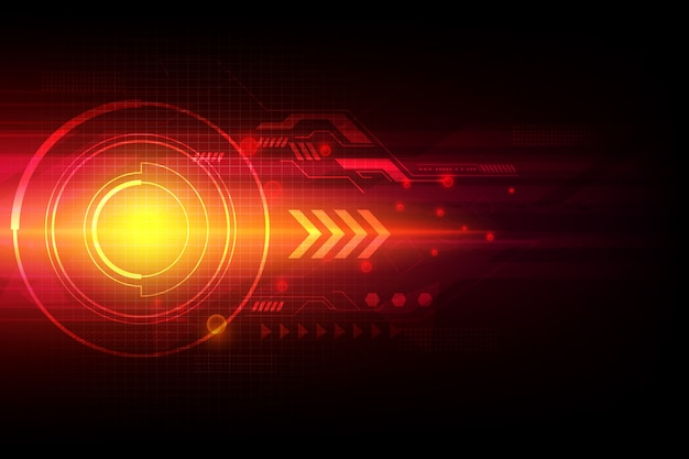 Arrow automation technology abstract laser background