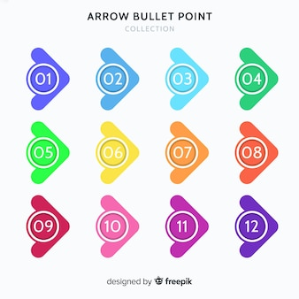 Arrow bullet point collection