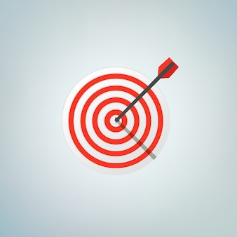 The arrow in bulls eye. color vector illustration