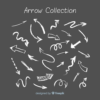 Arrow collection in chalk style