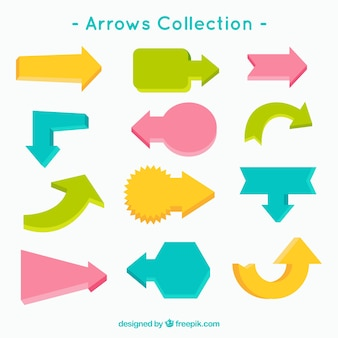 Arrow colored collection