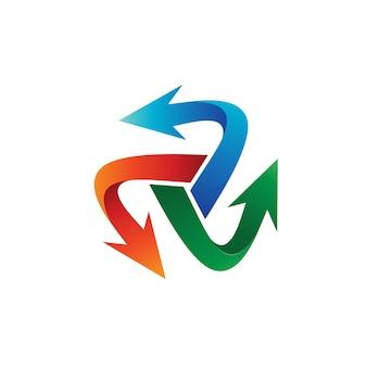 Шаблон шаблона с логотипом arrow