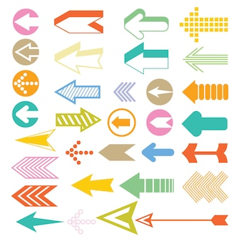 Arrow and cursor icons