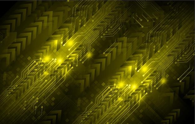 矢印サイバー回路の将来の技術概念の背景