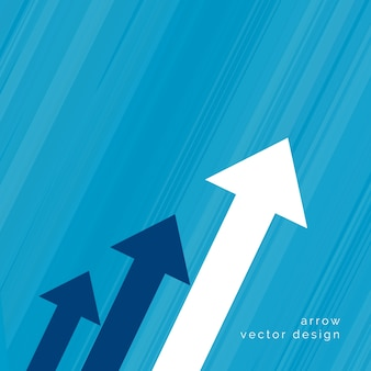 Arrow design for business growth concept