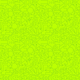 Arrow direction line seamless pattern. vector illustration of outline background.