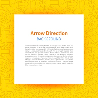 Arrow direction paper template. vector illustration of outline design.