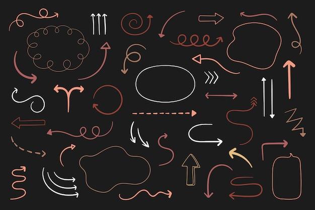 Arrow doodles set