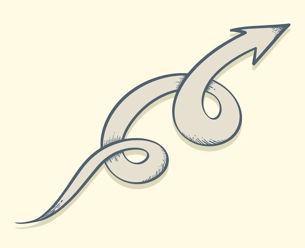 Arrow drawn twist up.