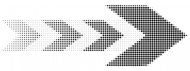 Arrow halftone dots