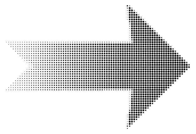 Arrow halftone dots