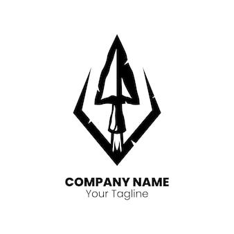 Стрелка головы дизайн логотипа вектор