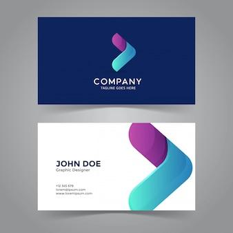 Arrow icon business card template