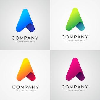 Arrow Icon & Letter A Symbol Logo Template Design