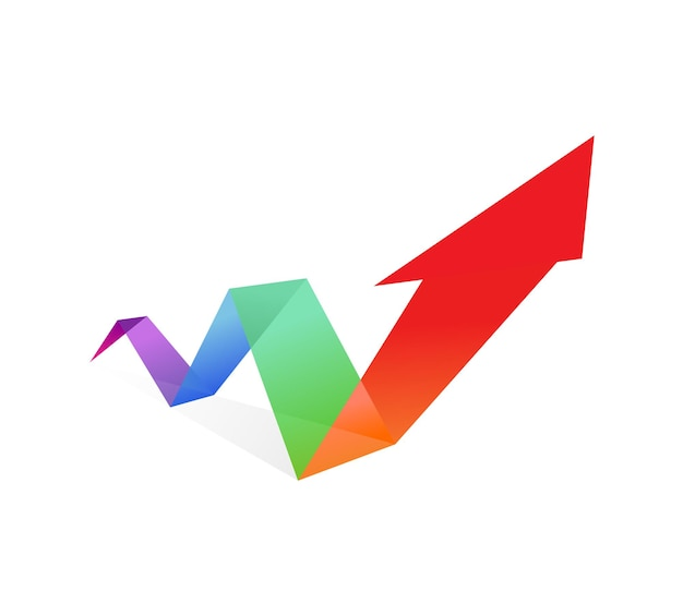 Arrow illustration rising prices currencies and inflation