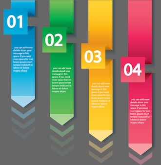 Arrow infographic concept template with 4 options