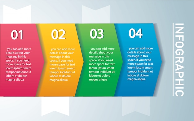 Arrow infographic template with 4 options