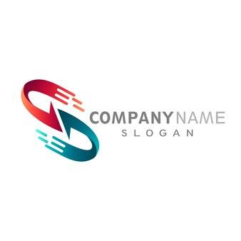 Arrow letter s logo template