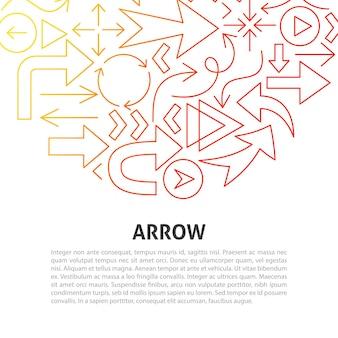 Arrow line concept. vector illustration of outline design.