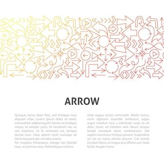 Arrow line design template. vector illustration of outline concept.
