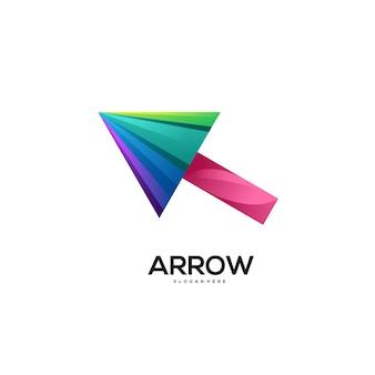 Стрелка логотип красочный градиент