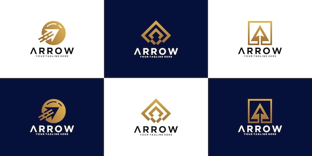 Arrow logo design inspiration collection, business investment