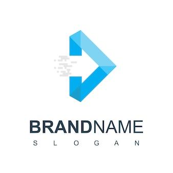 Шаблон дизайна логотипа стрелки. символ бизнеса доставки