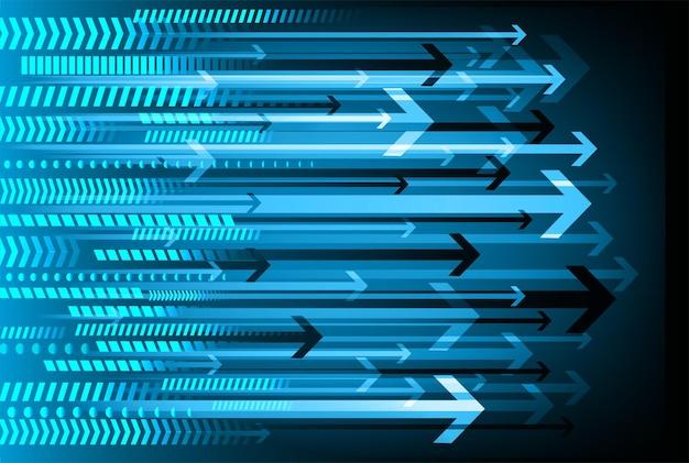 Стрелка двигаться будущее технологии концепции фон