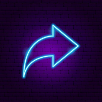 Arrow neon sign 2. vector illustration of direction promotion.