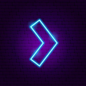 Arrow neon sign 4. vector illustration of direction promotion.