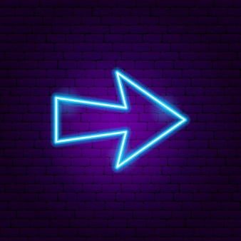 Arrow neon sign 5. vector illustration of direction promotion.