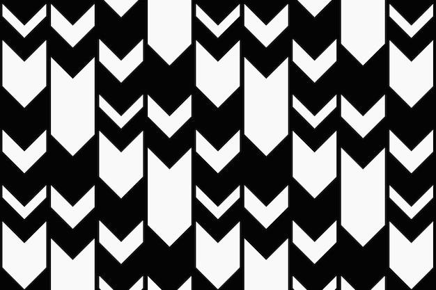 화살표 패턴 배경, 검은 지그재그, 심플한 디자인 벡터