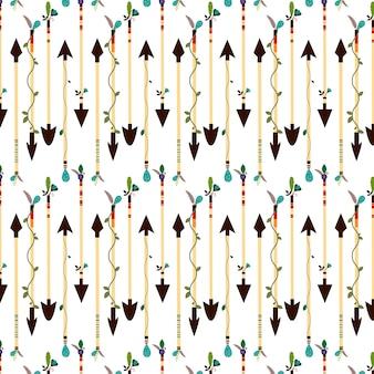Arrow pattern on white background