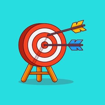 Arrow pierced vector illustration design on target board