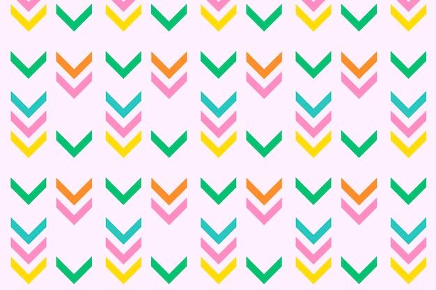 화살표 분홍색 배경, 지그재그 패턴, 화려한 디자인 벡터