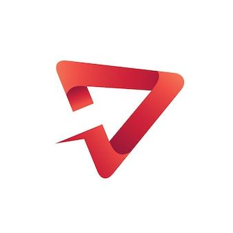 Arrow play logo vector