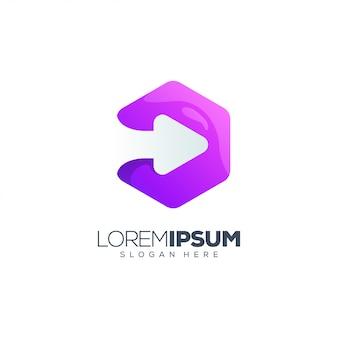 Arrow purple logo