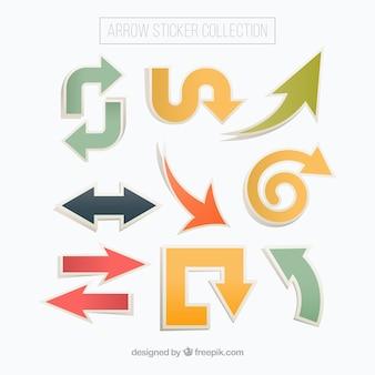 Arrow adesivi con diverse forme