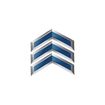 Arrow symbol in modern design for element design