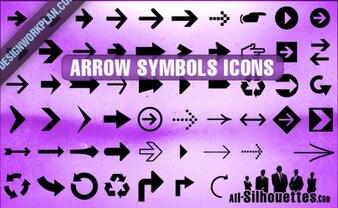 Arrow Symbols Icons Silhouettes